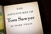 Title Page: 'The Adventures of Tom Sawyer'; Black Background