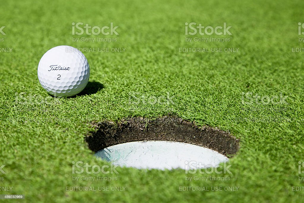 Titleist Golf Ball royalty-free stock photo
