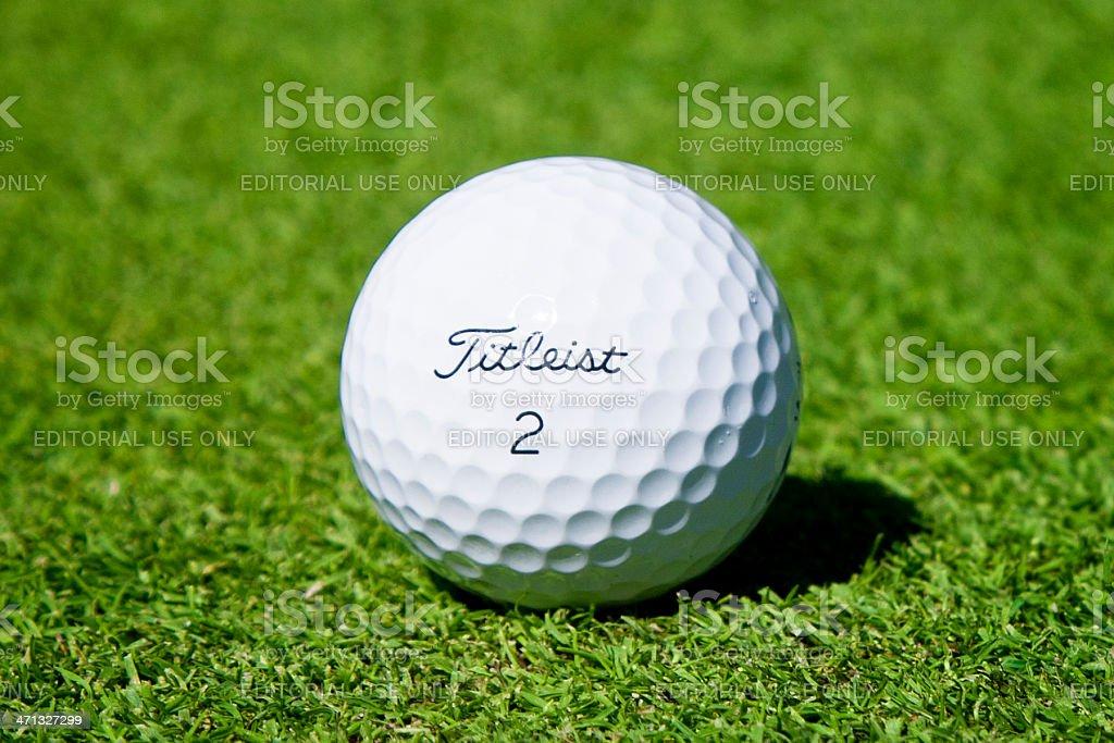 Titleist Golf Ball royalty-free stock photo