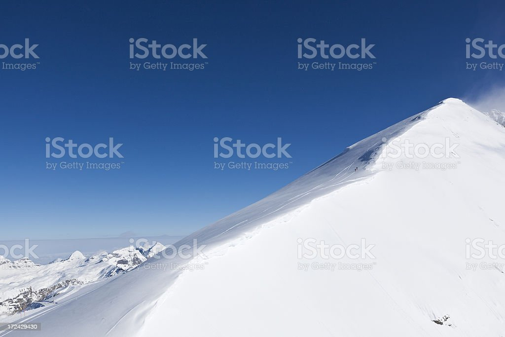 titlis peak in the swiss alps stock photo