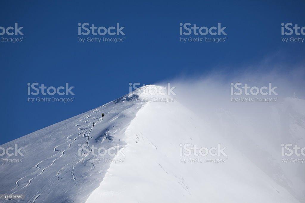 titlis peak in the swiss alps stock photo