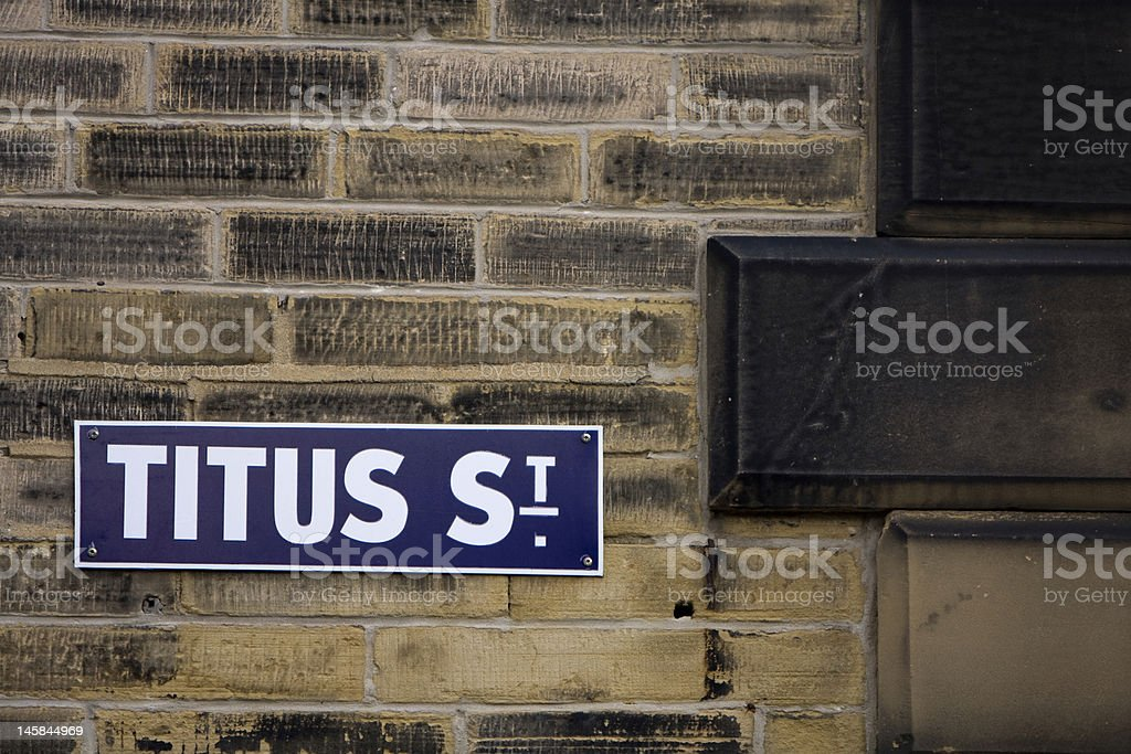 Titus Street , Saltaire , UK stock photo