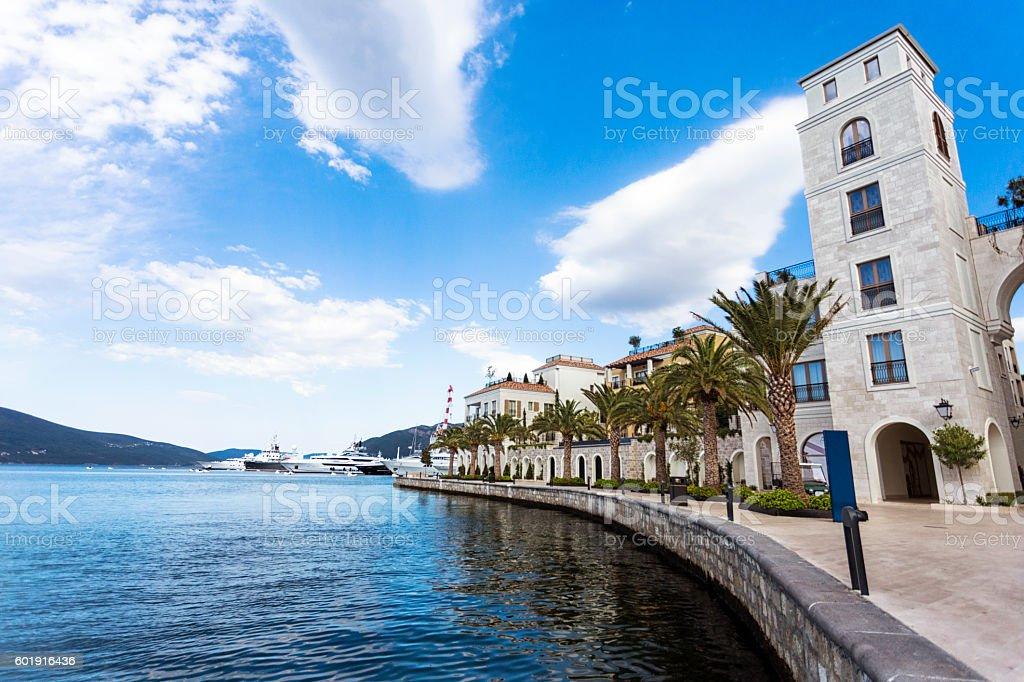 Tivat marina ,Montenegro stock photo