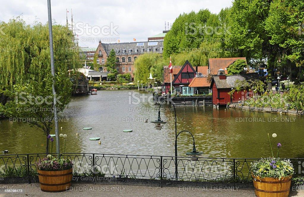 Tivoli garden, Copenhagen stock photo