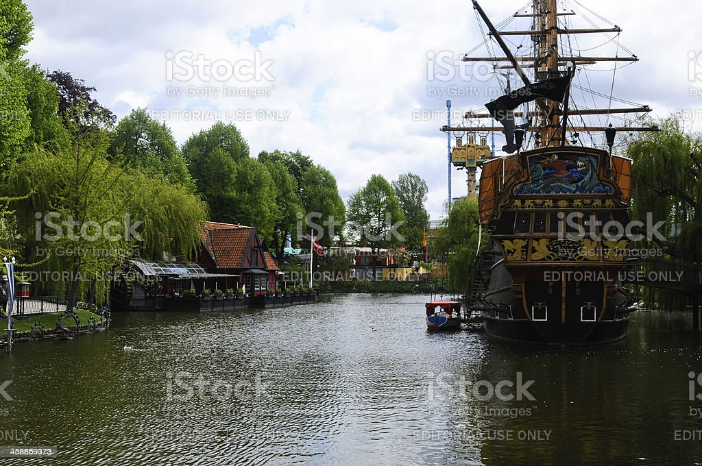 Tivoli garden, Copenhagen royalty-free stock photo