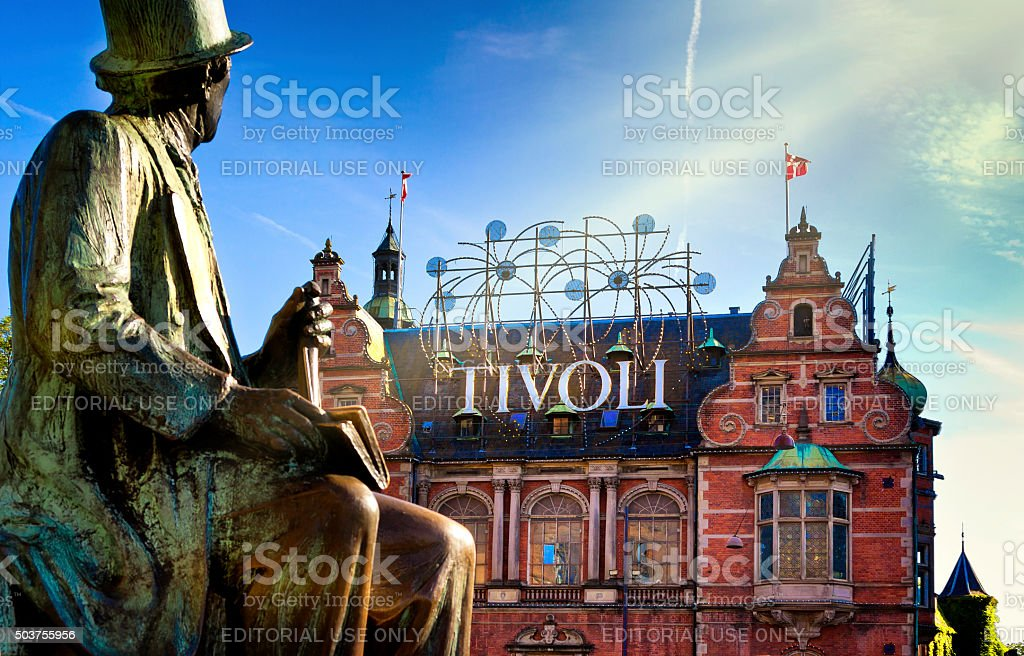 Tivoli Garden of Copenhagen stock photo
