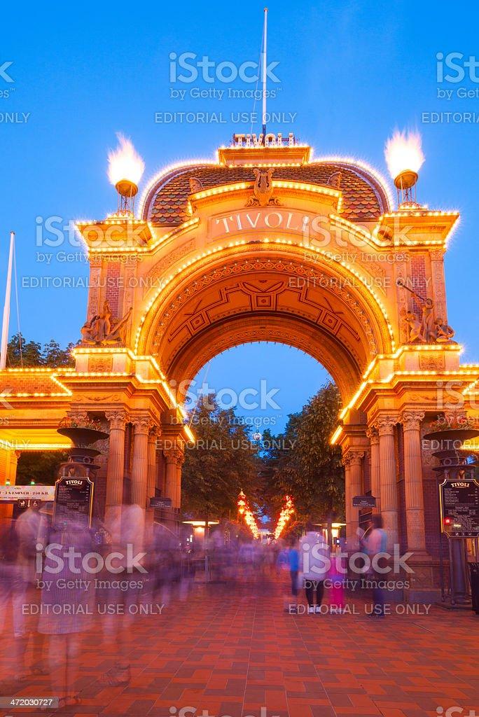 Tivoli Gardens, Copenhagen, Denmark stock photo