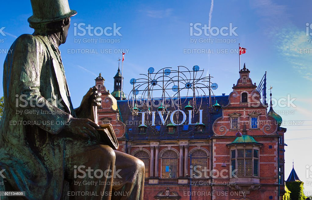 Tivoli Gardens Copenhagen stock photo