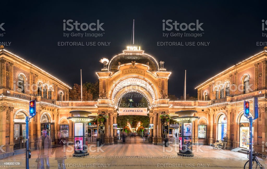 Tivoli Gardens stock photo