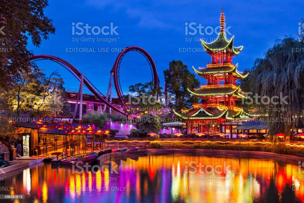 Tivoli Gardens stock photo