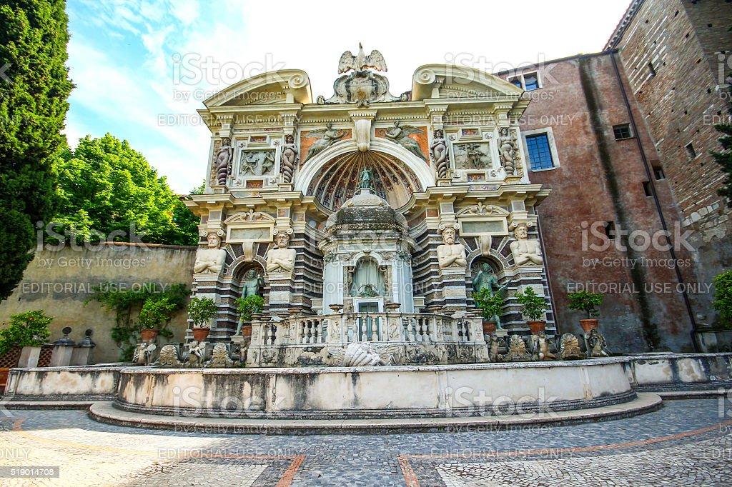 Tivoli, Italy - May 03, 2015 - Facade of Villa d'Este stock photo