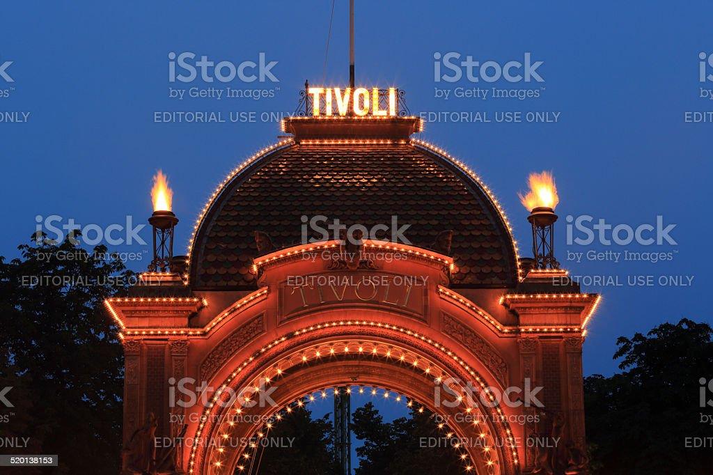 Tivoli Main Entrance stock photo