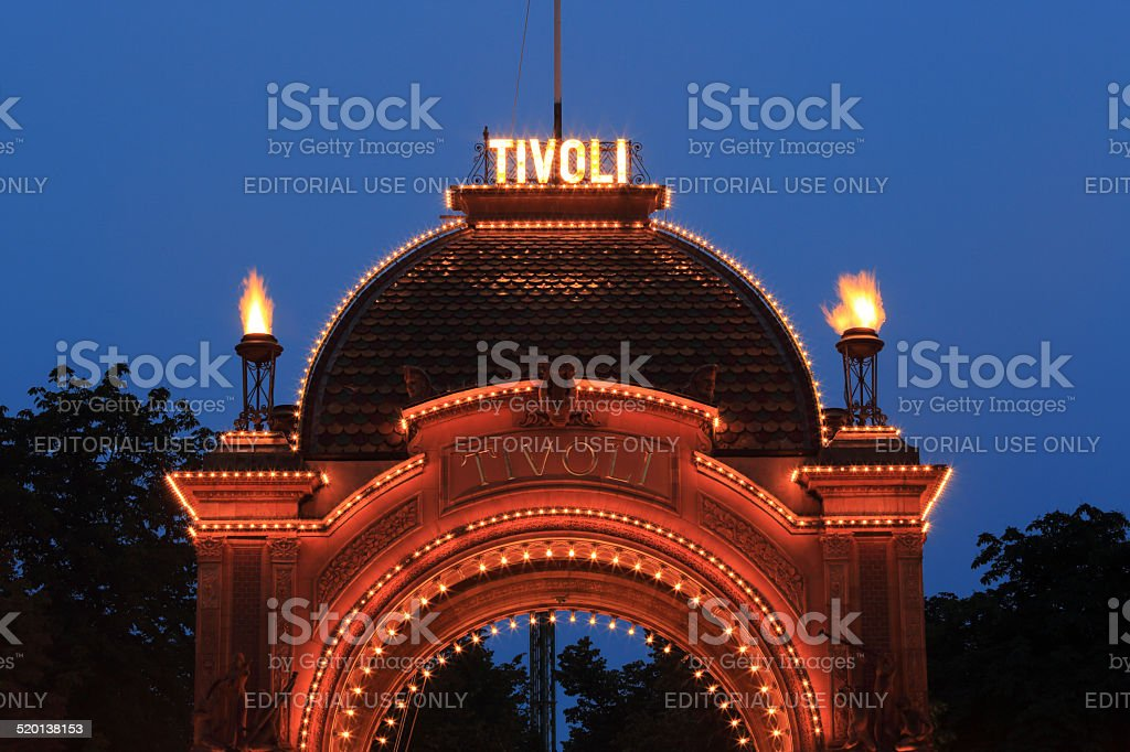 Tivoli Main Entrance stock photo