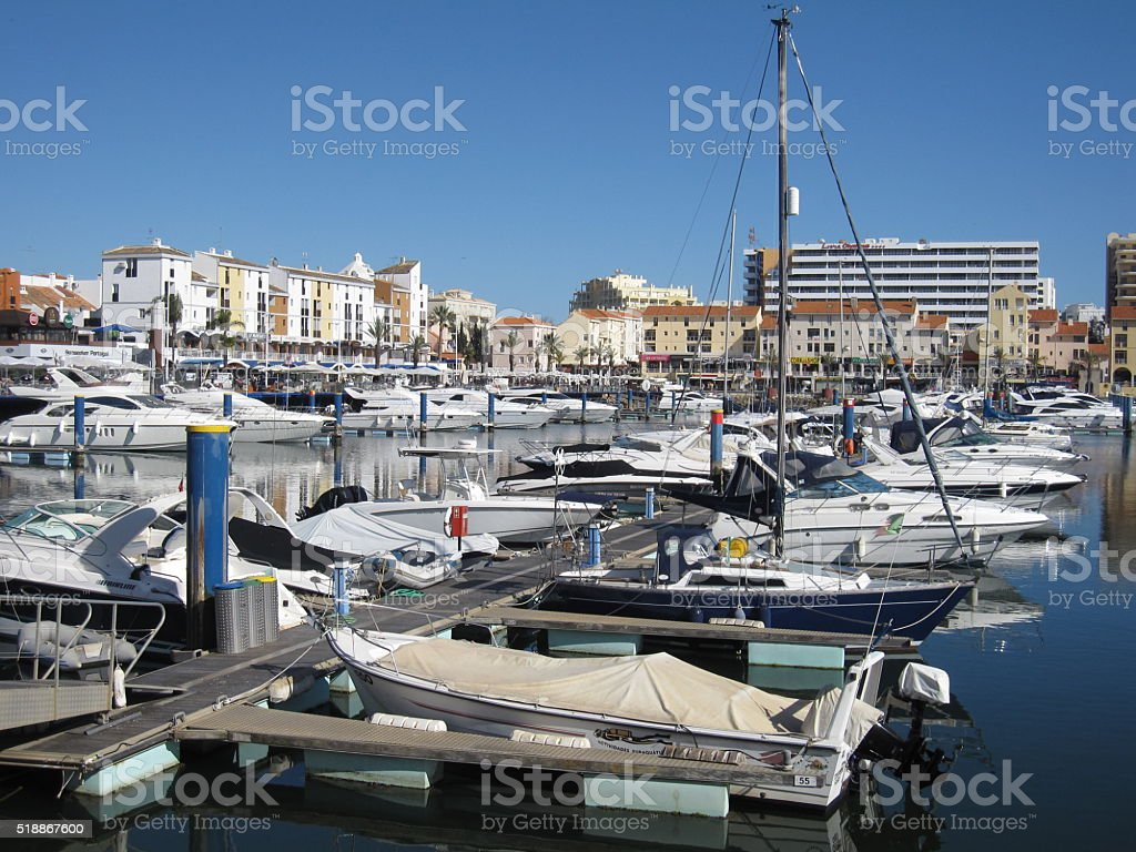 Tivoli Marina Vilamoura in Portugal stock photo