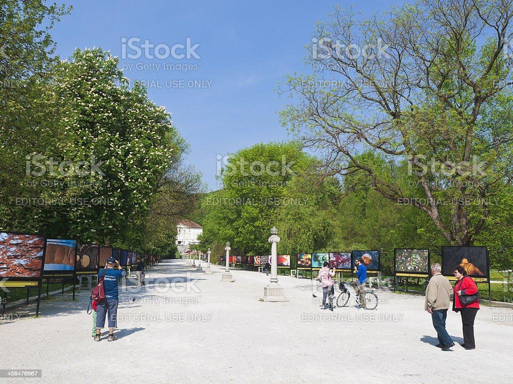 Tivoli park stock photo