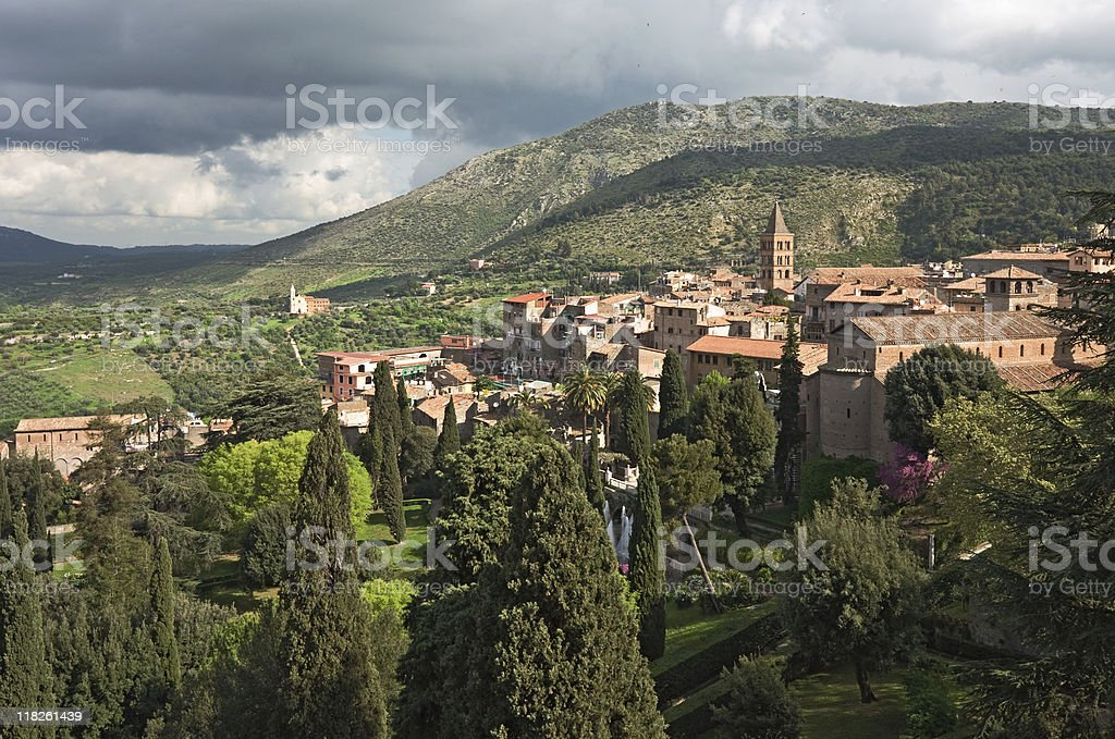 Tivoli view, Italy stock photo
