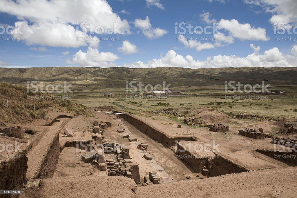 Tiwanaku or Tiahuanaco royalty-free stock photo