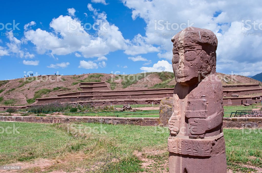 Tiwanaku. Ruins in  Bolivia, stock photo