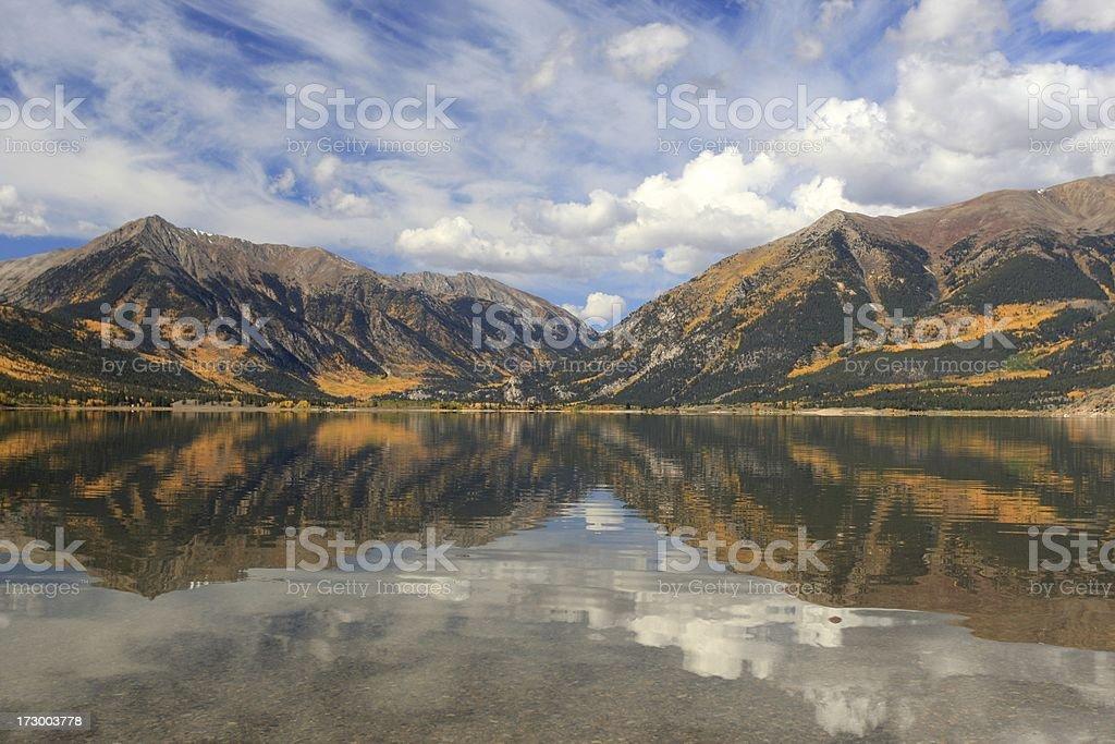 Riflessione Tiwn Lakes foto stock royalty-free