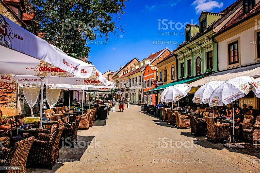 Tkalciceva Street in Zagreb stock photo