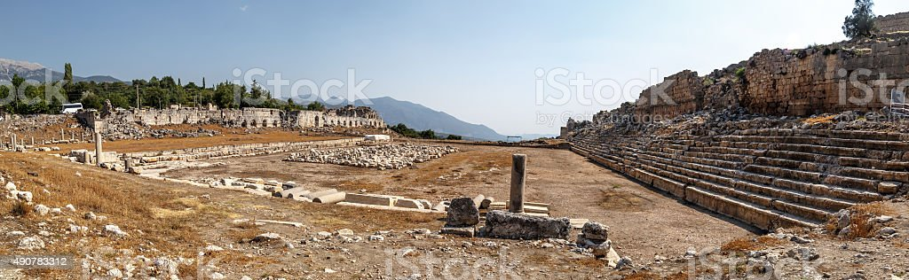 Tlos Ancient City stock photo