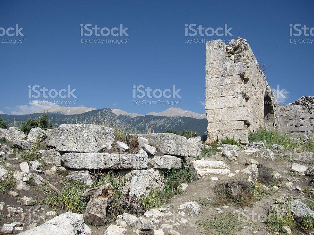 Tlos Ruins in Turkey stock photo