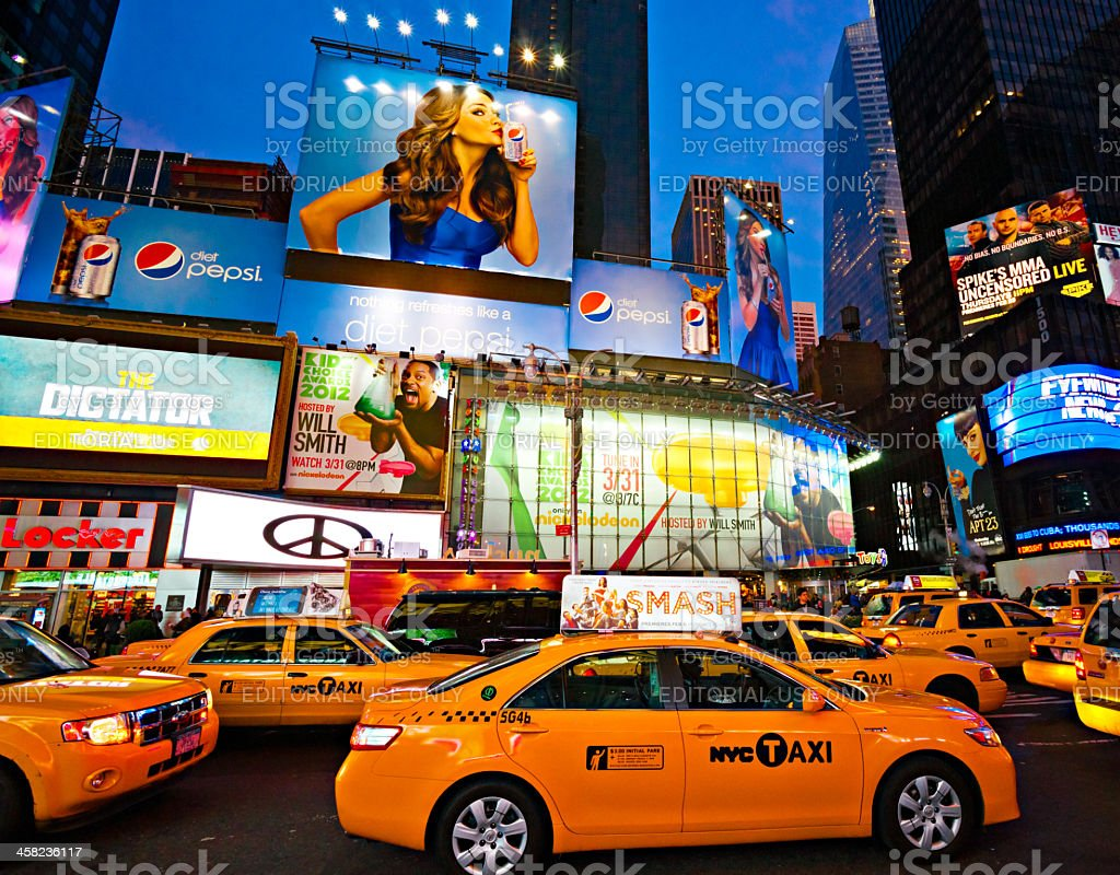 Tmes Square, New York City. stock photo