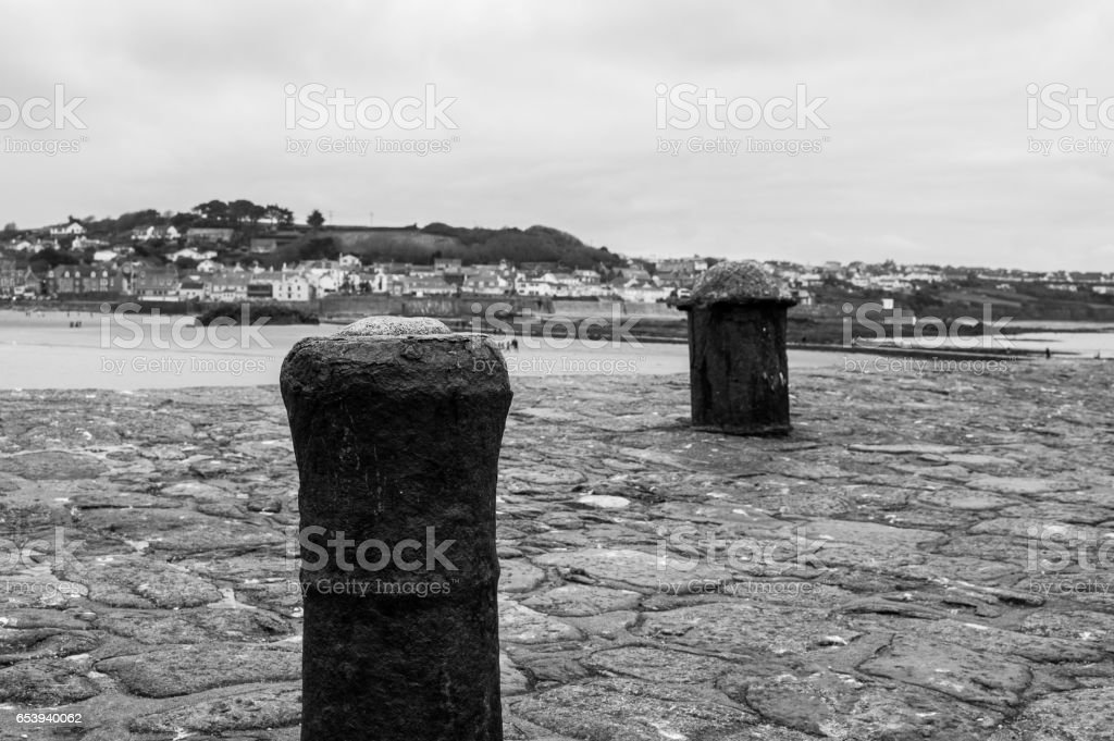 S tMichaels mount harbour, cornwall stock photo