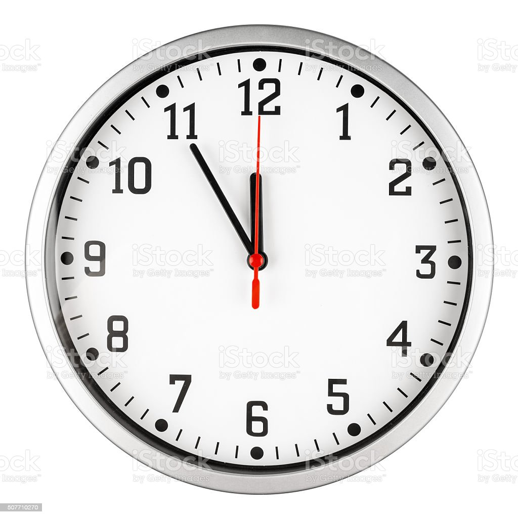 5 to 12 clock stock photo