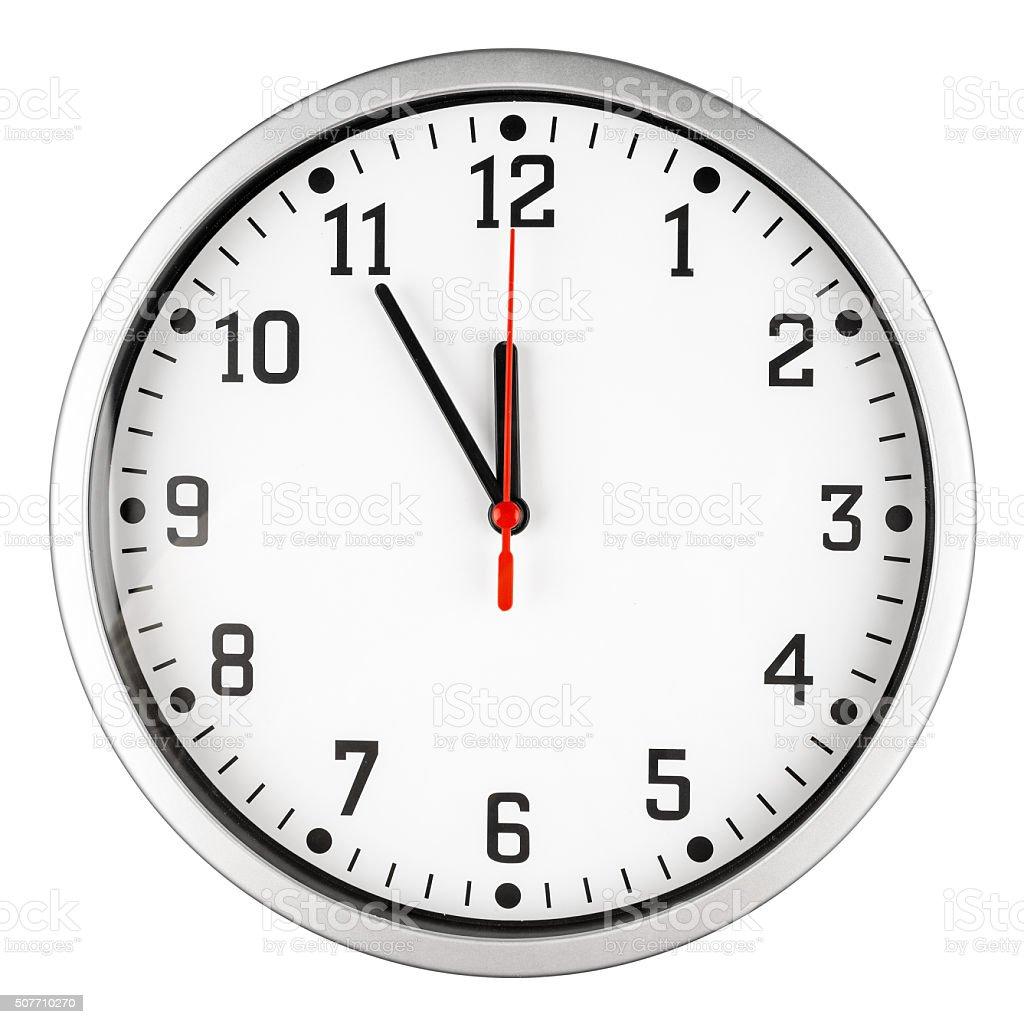 5 to 12 clock stock photo