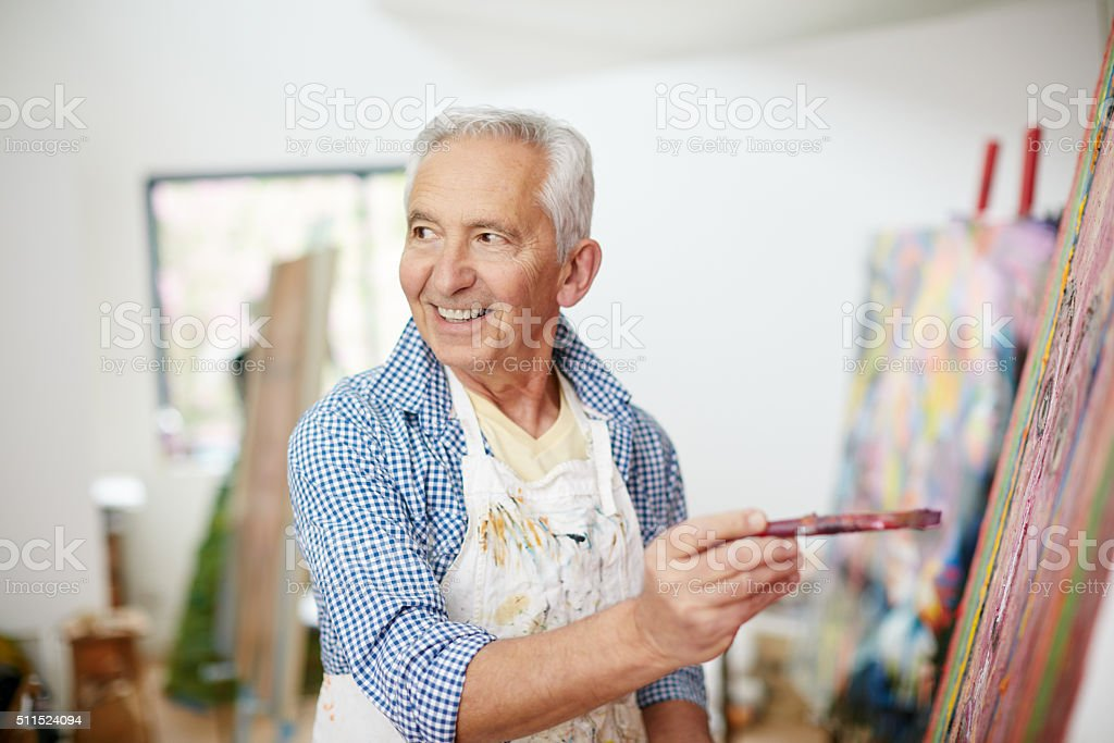 To be an artist is to believe in life stock photo
