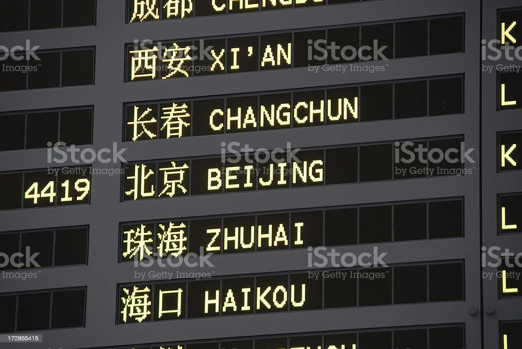 To Beijing Airport Sign royalty-free stock photo