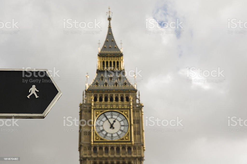 To Big Ben, London royalty-free stock photo
