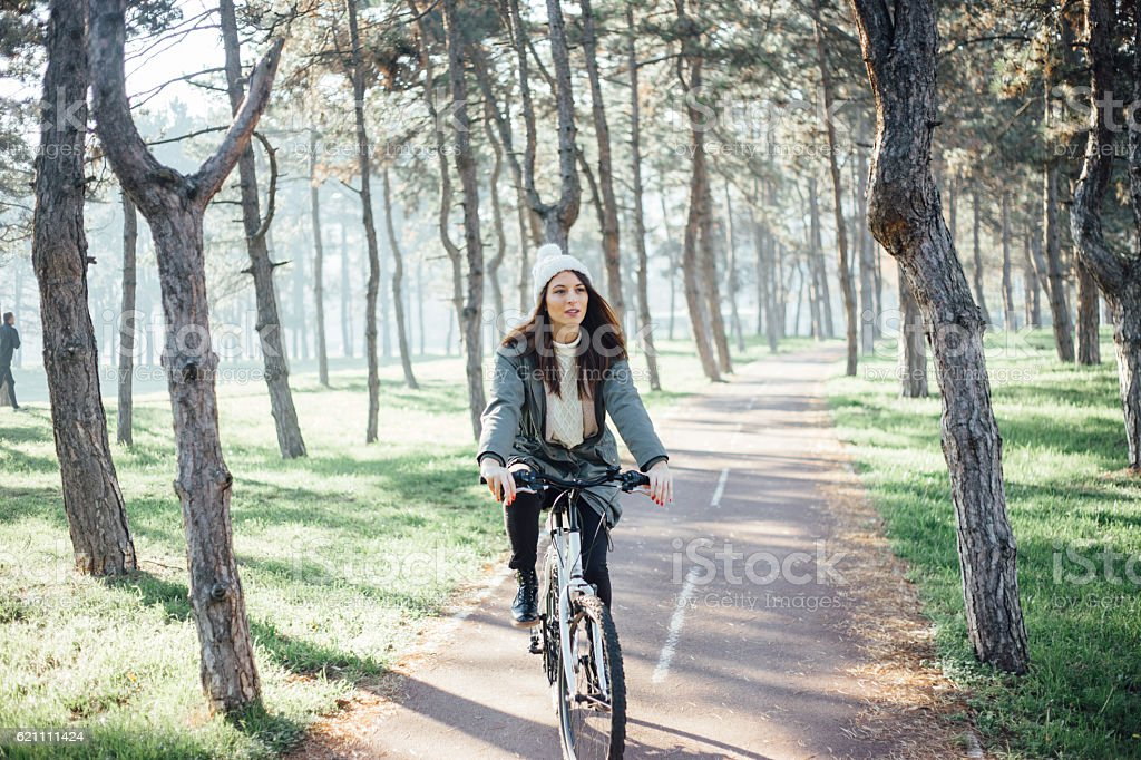 To bike or not to bike stock photo