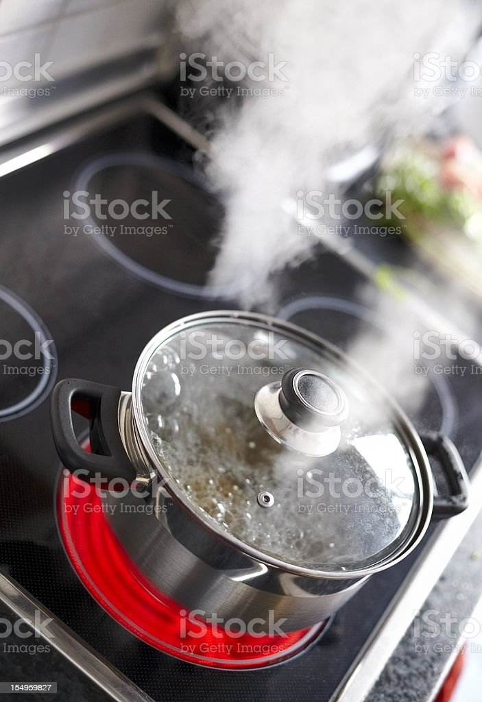 to blow off steam stock photo