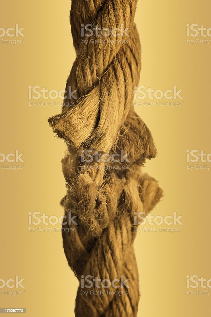 To break a rope. royalty-free stock photo