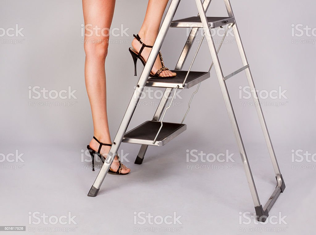 To climb up the stairs royalty-free stock photo