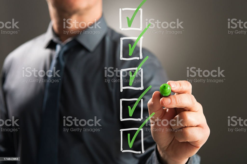 To Do list boxes ticked stock photo
