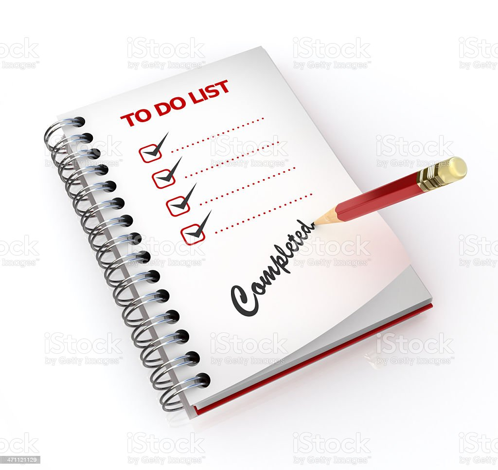 to do List - complete royalty-free stock photo