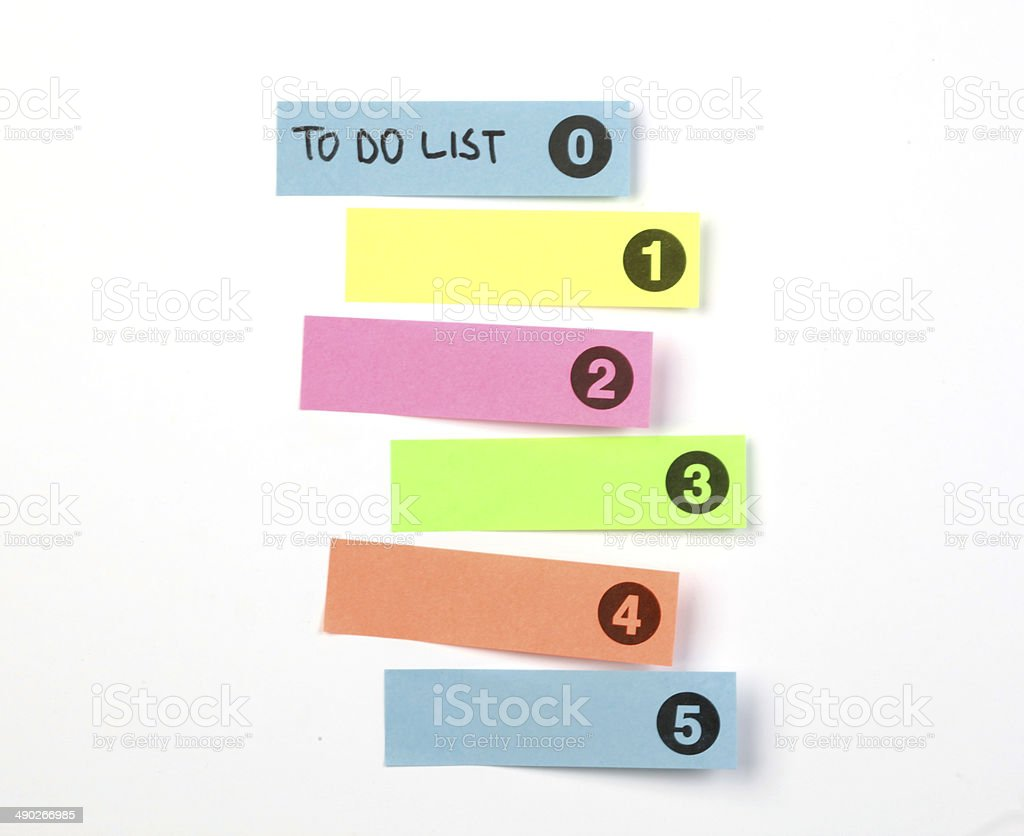 To Do List Concept stock photo