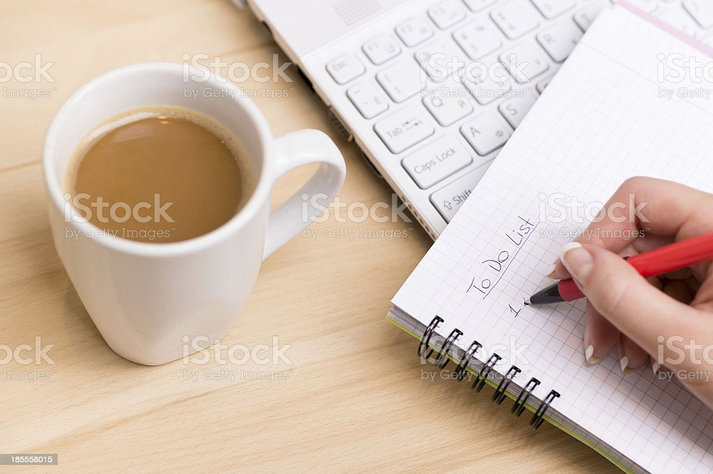 To do list. stock photo