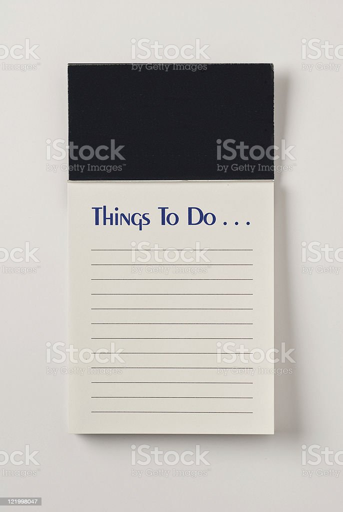 To Do List With Blank Header and Copy Space royalty-free stock photo