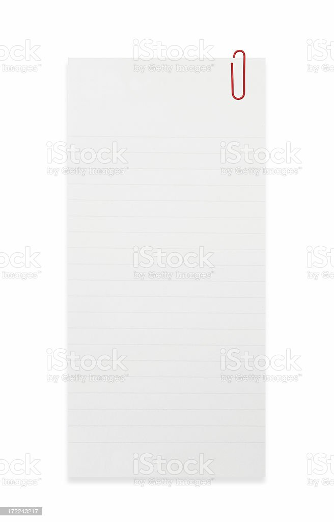 To do list with Paper clip royalty-free stock photo
