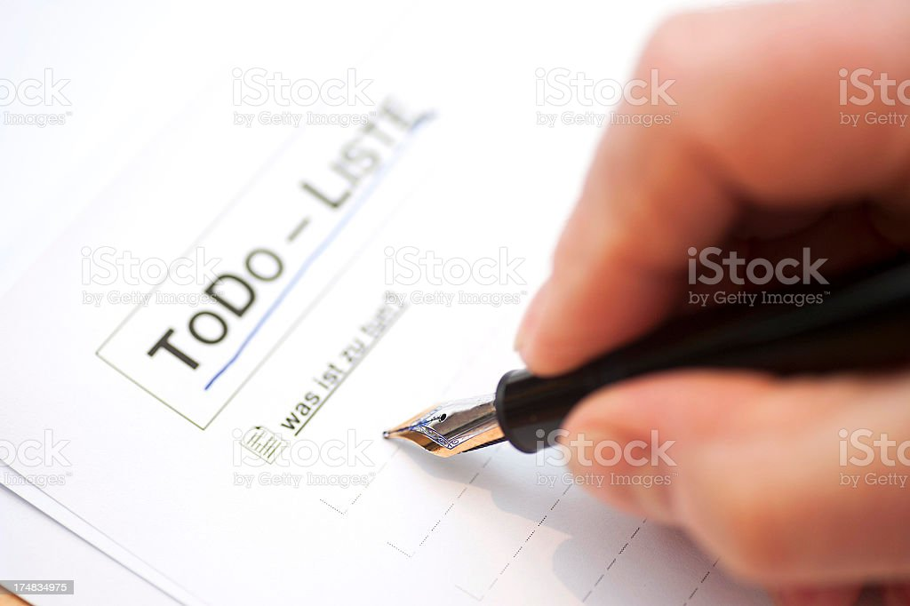 To Do list with pen Todo - Liste stock photo