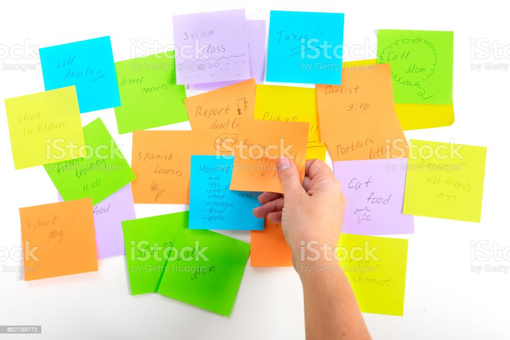 To do lists stock photo