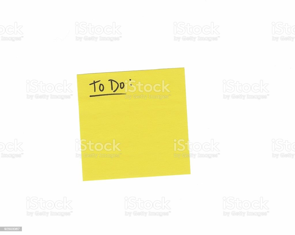 'To Do' Post-It Note royalty-free stock photo