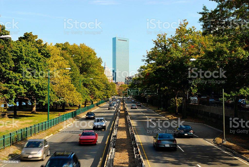 To downtown Boston stock photo