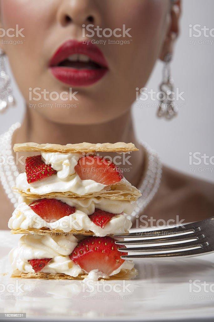 To Eat Strawberry Pie royalty-free stock photo