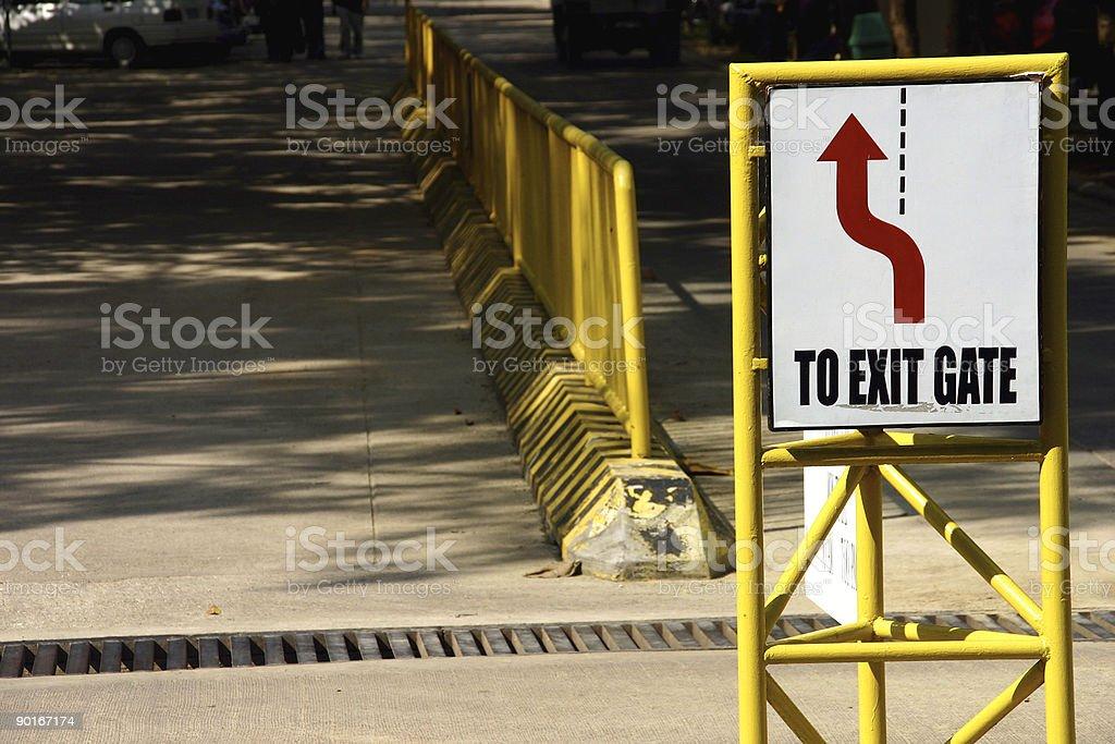To Exit Gate (horizontal) royalty-free stock photo