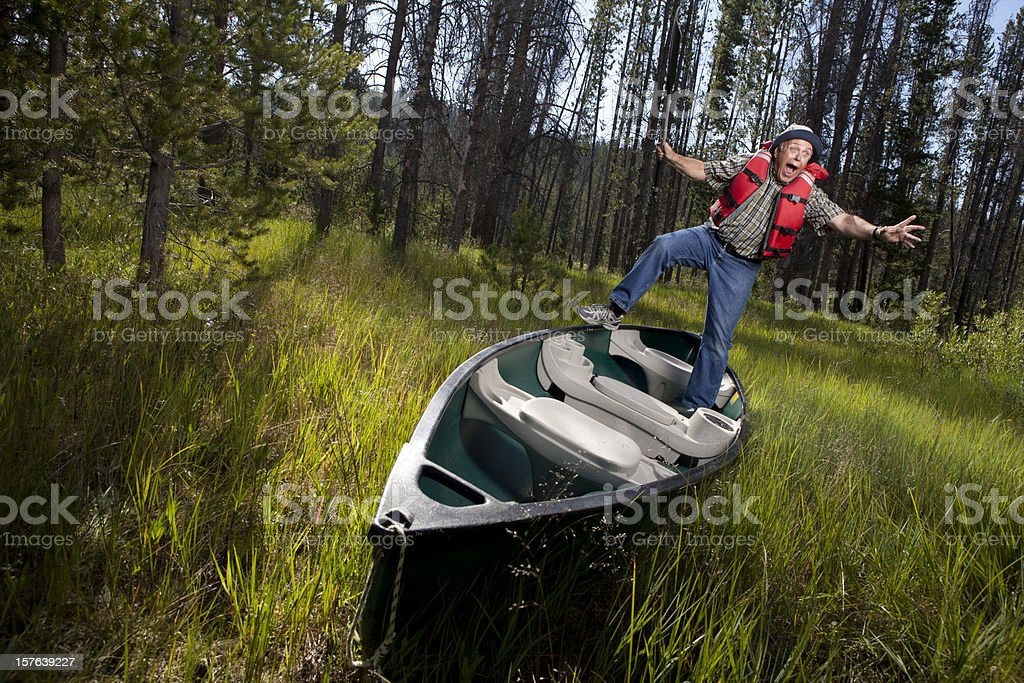 To Far Up a Creek royalty-free stock photo
